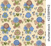 seamless pattern with different ... | Shutterstock .eps vector #423589942