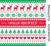 vrolijk kerstfeest greetings... | Shutterstock .eps vector #423594466