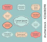 set of vector labels  cutout... | Shutterstock .eps vector #423608398