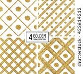 set of grunge seamless pattern... | Shutterstock .eps vector #423614212