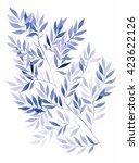 watercolor violet wood... | Shutterstock . vector #423622126