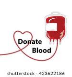 vector of blood donation bag... | Shutterstock .eps vector #423622186