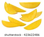 mango long slices set selection ... | Shutterstock . vector #423622486