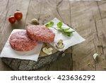 Raw Minced Beef For Hamburger...