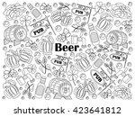 beer design colorless set... | Shutterstock .eps vector #423641812