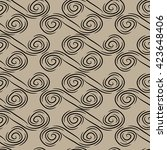 vector seamless pattern. doodle ... | Shutterstock .eps vector #423648406