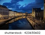 night walk in the center of... | Shutterstock . vector #423650602