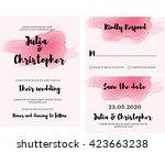 watercolor wedding invitation... | Shutterstock .eps vector #423663238