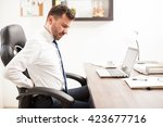 profile view of a young...   Shutterstock . vector #423677716