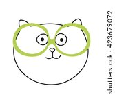 cute hand drawn vector... | Shutterstock .eps vector #423679072