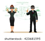 new virtual technologies.... | Shutterstock .eps vector #423681595