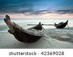 Two Fisherman Boats At Sunrise...