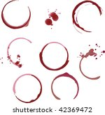 wine   coffee stain circles in...   Shutterstock .eps vector #42369472