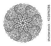round element for coloring book.... | Shutterstock . vector #423696286