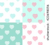 Set Of 4 Pastel Patterns With...