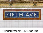 Mosaic Sign At The Fifth Avenue ...