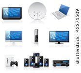 vector household icons | Shutterstock .eps vector #42371509