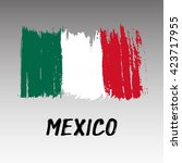 flag of mexico   grunge | Shutterstock .eps vector #423717955