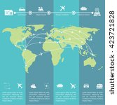 details of the travel... | Shutterstock .eps vector #423721828