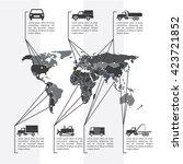 vector illustration. world map ... | Shutterstock .eps vector #423721852