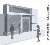 shopping. abstract illustration ... | Shutterstock .eps vector #423724852