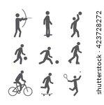 sport icons set | Shutterstock .eps vector #423728272