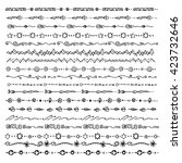 hand drawn vector line border... | Shutterstock .eps vector #423732646