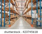 logistics warehouse image | Shutterstock . vector #423745618