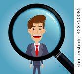 vector stock of magnifying... | Shutterstock .eps vector #423750085