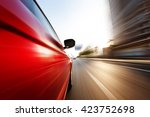 car on the road with motion... | Shutterstock . vector #423752698