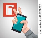 smartphone design. app concept. ... | Shutterstock .eps vector #423768628