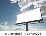 billboard   empty billboard in... | Shutterstock . vector #423769225