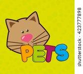 cute pets design  | Shutterstock .eps vector #423777898