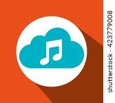 cloud computing design  | Shutterstock .eps vector #423779008