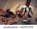 Ice cream sundae  waffle cone...