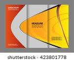 business tri fold flyer... | Shutterstock .eps vector #423801778
