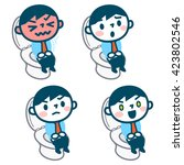 set of man's toilet scene | Shutterstock .eps vector #423802546