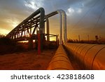 oil pipeline  the oil industry... | Shutterstock . vector #423818608