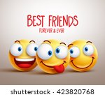 best friends smiley face vector ... | Shutterstock .eps vector #423820768