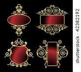 Golden Wrought Iron Frames