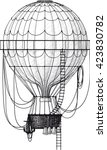 vintage hot air balloon with... | Shutterstock .eps vector #423830782