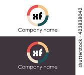 xf letters business logo icon... | Shutterstock .eps vector #423838042