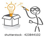 thinking outside the box is a... | Shutterstock .eps vector #423844102