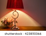 Vintage Table Lamp On Wooden...