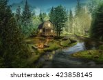 House In The The Forest By The...