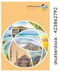 travel collage. can be used for ... | Shutterstock . vector #423862792