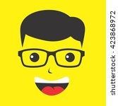 geek | Shutterstock .eps vector #423868972