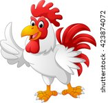 cartoon rooster giving thumb up | Shutterstock .eps vector #423874072