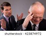 two businessmen arguing | Shutterstock . vector #423874972
