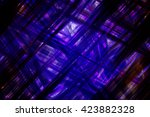 abstract  violet fractal... | Shutterstock . vector #423882328
